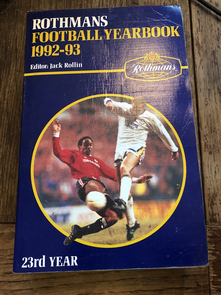 Rothmans Football Yearbook 1992/93