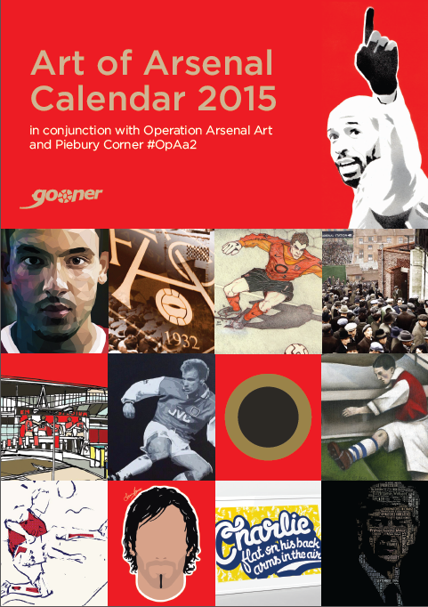Gooner 2015 Art of Arsenal Calendar