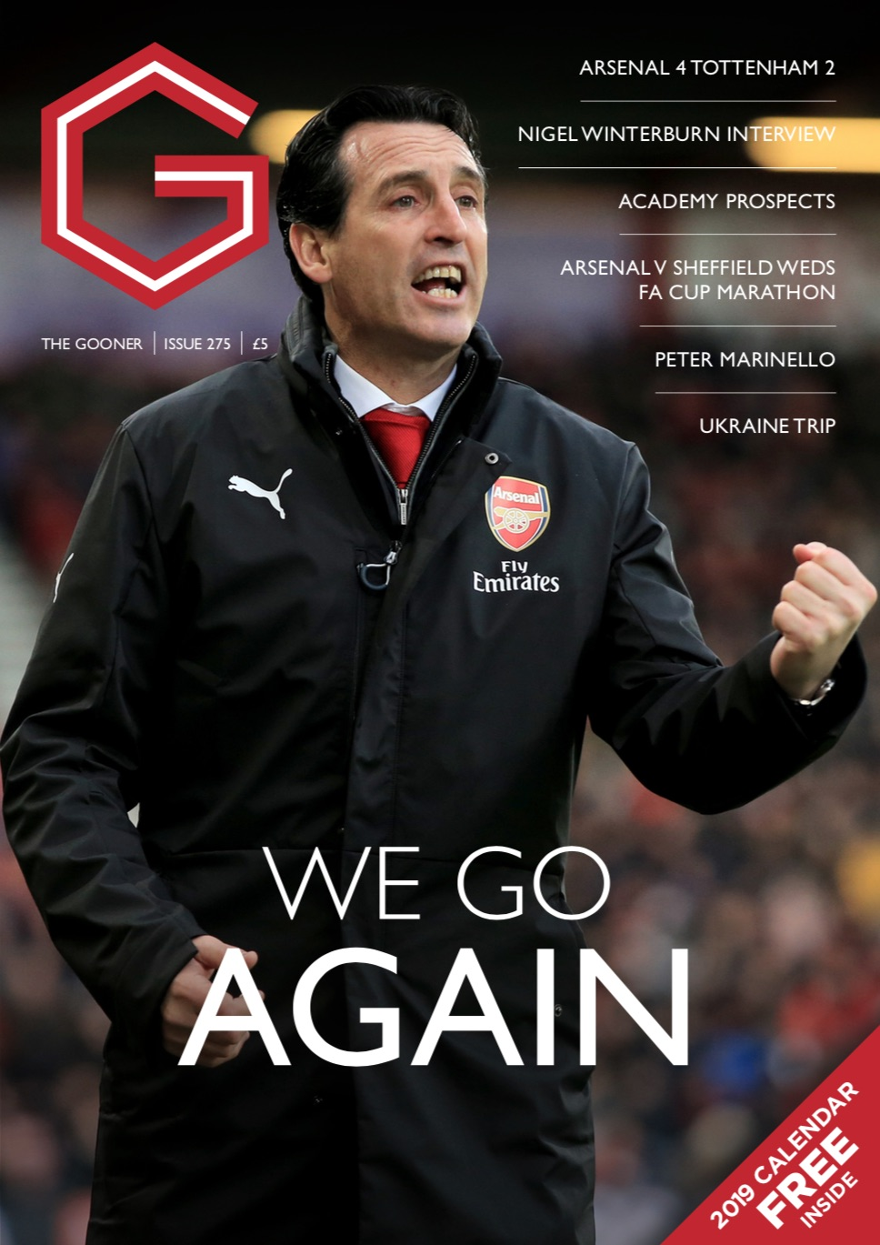 Current Edition – The Gooner Issue 275 (UK addresses)