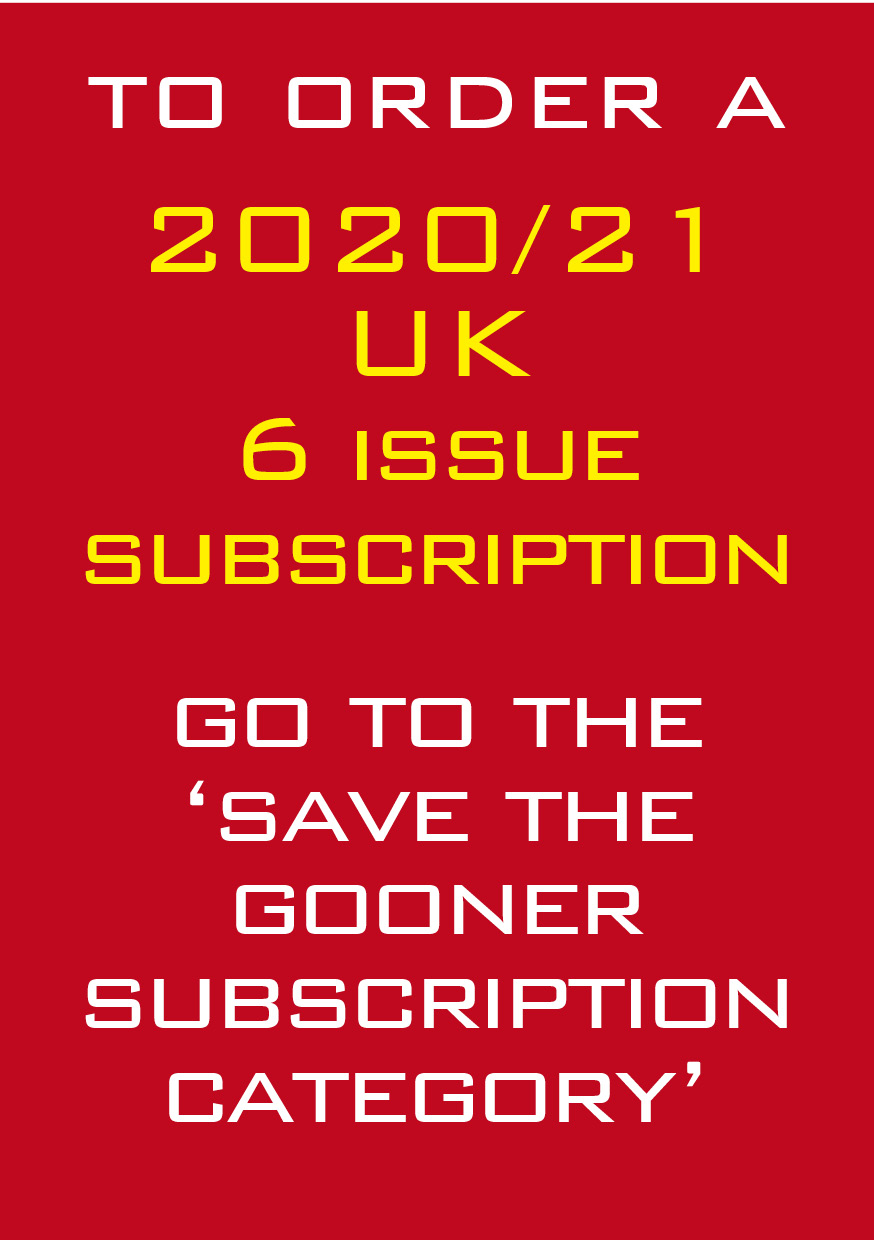 1b - Where to subscribe to next season\'s Gooner!
