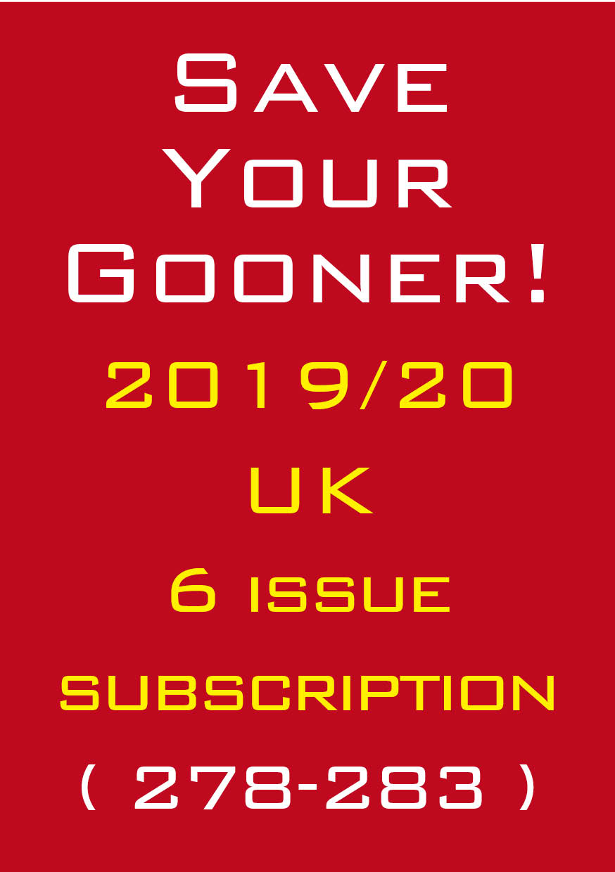 1a. The Gooner! - 2019/20 subscription UK